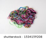 tangle of colourful cotton... | Shutterstock . vector #1534159208