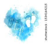 it's a boy    inspirational... | Shutterstock .eps vector #1534164215