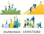 set flat 2d concepts become... | Shutterstock .eps vector #1534172282