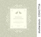 vector invitation  anniversary... | Shutterstock .eps vector #153417716