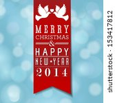 vector merry christmas and... | Shutterstock .eps vector #153417812