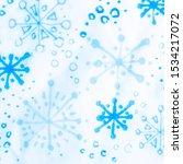 Snowflake Texture. White Snow...