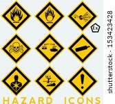 hazard icons  9   1 package... | Shutterstock .eps vector #153423428