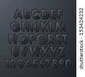 alphabet set   Shutterstock .eps vector #153424232