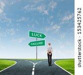 back view of businesswoman... | Shutterstock . vector #153425762