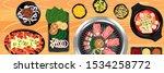 top view of traditional korean... | Shutterstock .eps vector #1534258772