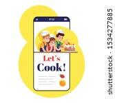 lets cook smartphone app screen....