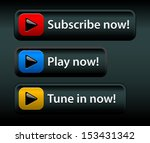 video related web buttons  ...   Shutterstock .eps vector #153431342