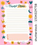 daily planner  to do list  note ... | Shutterstock .eps vector #1534329758