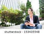 young entrepreneur looking away ...   Shutterstock . vector #153435548