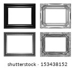 antique black  frame isolated... | Shutterstock . vector #153438152