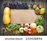 autumn fruits and vegetables... | Shutterstock . vector #153438896