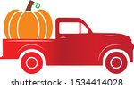 Pumpkin Truck Sign. Old Red...