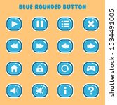 blue rounded button icon pack...
