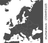 map of europe with borders of...   Shutterstock .eps vector #1534493105