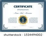 certificate or diploma vintage... | Shutterstock .eps vector #1534494002