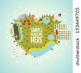 resort planet in shape of heart.... | Shutterstock .eps vector #153449705