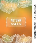 autumn sales with leaves   Shutterstock .eps vector #153450665