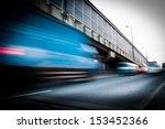 truck speeding through a bridge