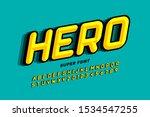 comics style font design  super ... | Shutterstock .eps vector #1534547255