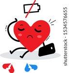 vector illustration of red sad... | Shutterstock .eps vector #1534576655