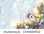 merry christmas and new year... | Shutterstock . vector #1534600922
