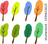 simple abstract tree set... | Shutterstock . vector #1534613615