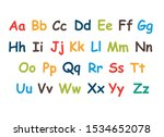 colored alphabet for children a ... | Shutterstock .eps vector #1534652078