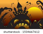 picture of a halloween backdrop ... | Shutterstock .eps vector #1534667612