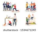 family activities illustration...