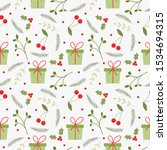variety christmas elements... | Shutterstock .eps vector #1534694315