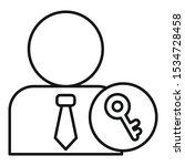 admin key icon. outline admin...