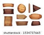 empty signboards or wood planks ...   Shutterstock .eps vector #1534737665