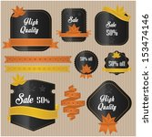 autumn sale labels | Shutterstock .eps vector #153474146