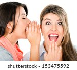 women gossiping and telling a... | Shutterstock . vector #153475592