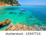 gorgeous mediterranean beach in ... | Shutterstock . vector #15347713