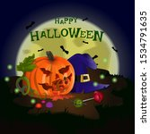 halloween holiday symbol....   Shutterstock .eps vector #1534791635
