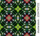 Aztec Rugs. Black  Green...