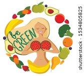 vegan day. greeting card.... | Shutterstock .eps vector #1534805825