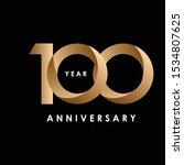 100 year anniversary design...   Shutterstock .eps vector #1534807625