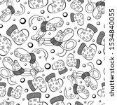 pattern socks gloves winter... | Shutterstock .eps vector #1534840055