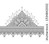 seamless borders with mandala... | Shutterstock .eps vector #1534842032