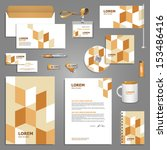 corporate identity template.... | Shutterstock .eps vector #153486416