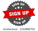 sign up sticker. sign up red... | Shutterstock .eps vector #1534880702