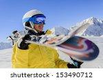 skier  skiing  winter sport  ... | Shutterstock . vector #153490712