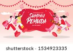 vector illustration. selamat... | Shutterstock .eps vector #1534923335