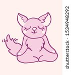 cute cartoon character fox...   Shutterstock .eps vector #1534948292