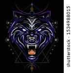 Wild Wolves. Blue Wolf Vector ...