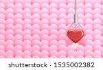 3d rendering the red heart that ... | Shutterstock . vector #1535002382