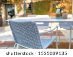 outdoor dining table on the...   Shutterstock . vector #1535039135